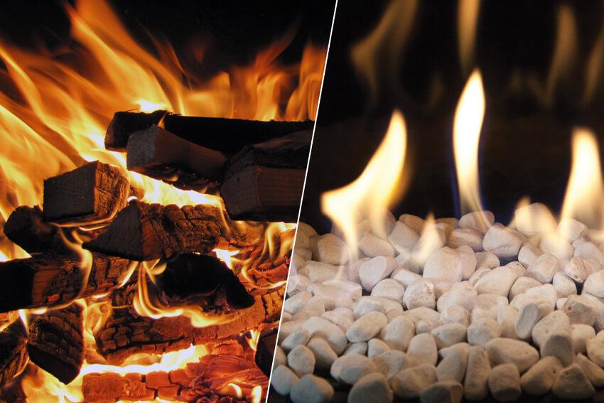 haard of kachel op hout of gas vergelijking