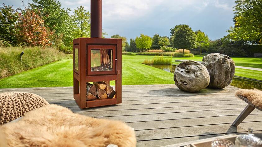 outdoor doorkijkkachel terras